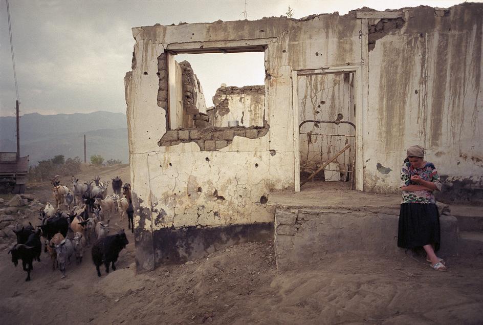 Деревушка Тандо разрушена в боях с ваххабитами