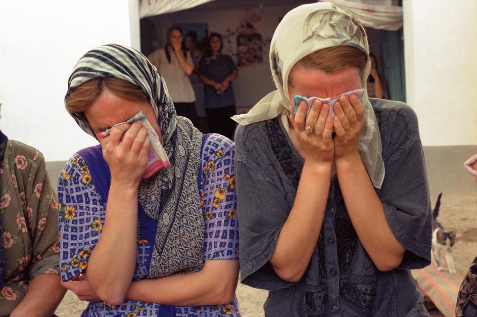 Похороны дагестанца, погибшего в столкновении с неформальной милицией