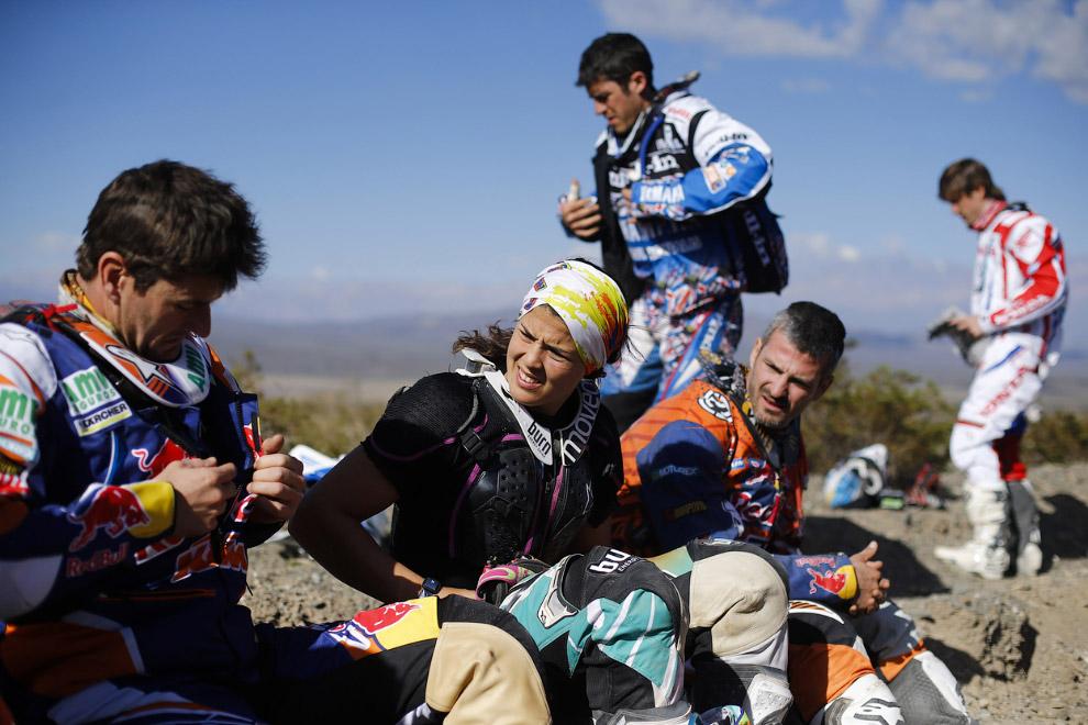 Серьезный разговор перед началом 3 этапа ралли Дакар 2014