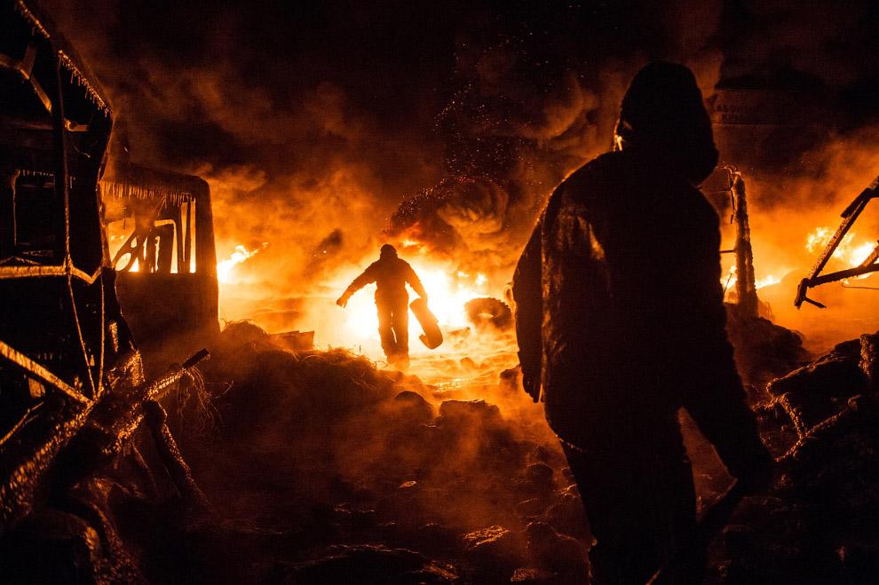 По ночам центр Киева похож на съемочную площадку голливудского фильма