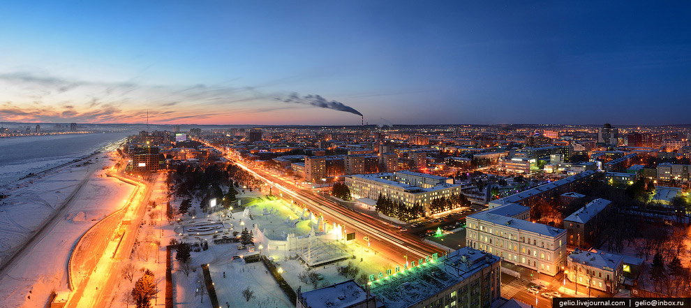 Панорама центра Благовещенска