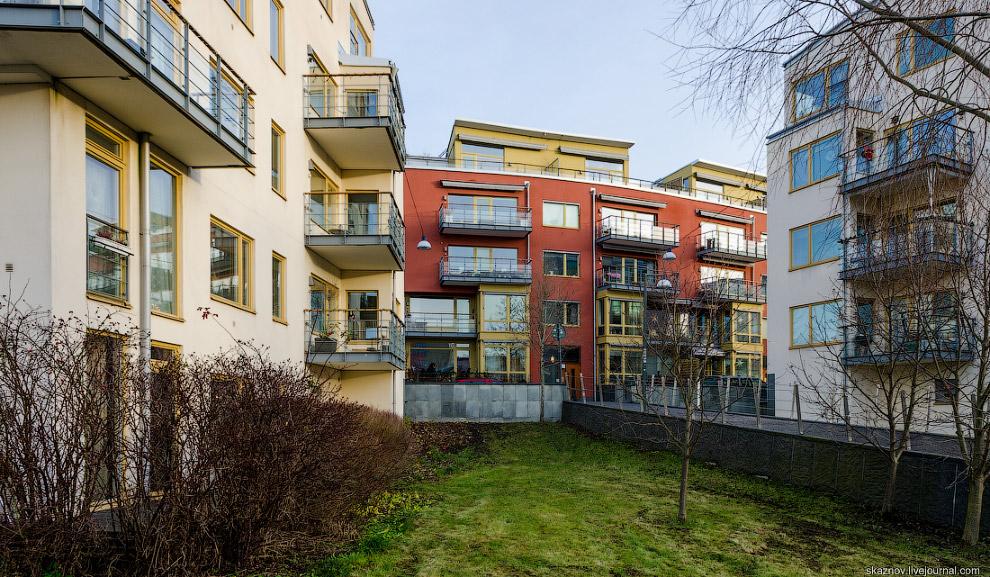 Экоквартал Hammarby Sjöstad