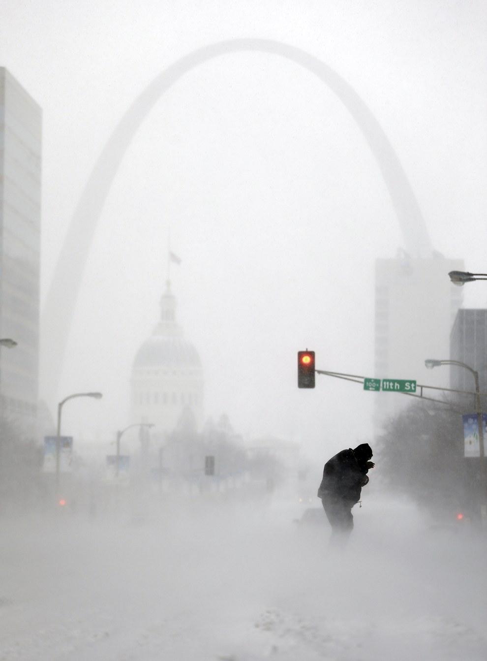 Мороз и метель в Сент-Луис, штат Миссури