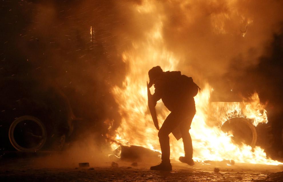 Бои в центре Киева