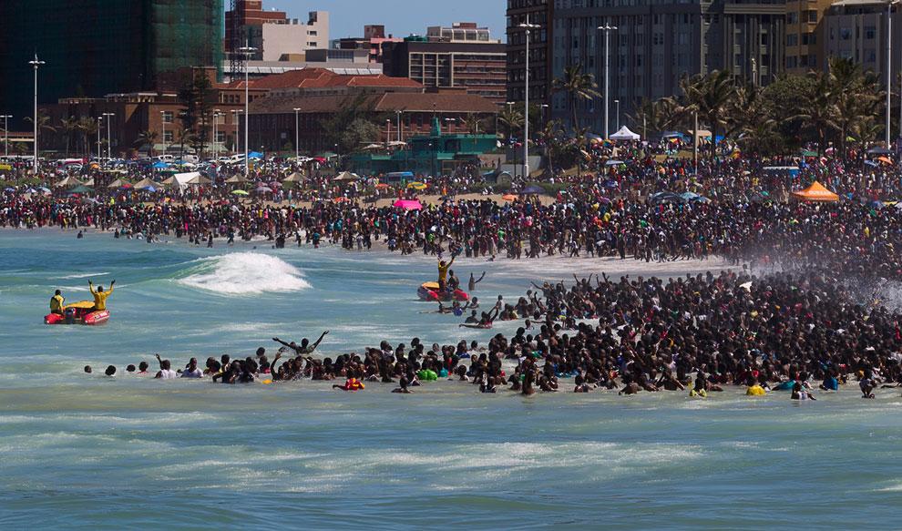 Новый год на пляже в Дурбане, Южная Африка