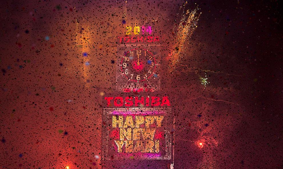 Новый год на Таймс-сквер в Нью-Йорке