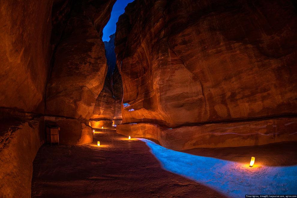 Иордания. Ночная Петра