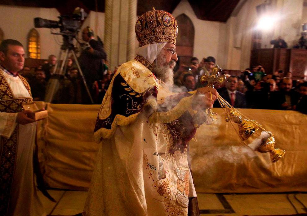 Коптский Патриарх Феодор II, глава наиболее многочисленной христианской Церкви в арабском мире