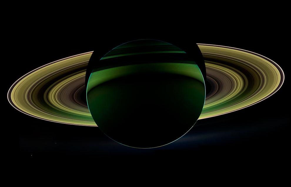 Кольца Сатурна очень тонкие