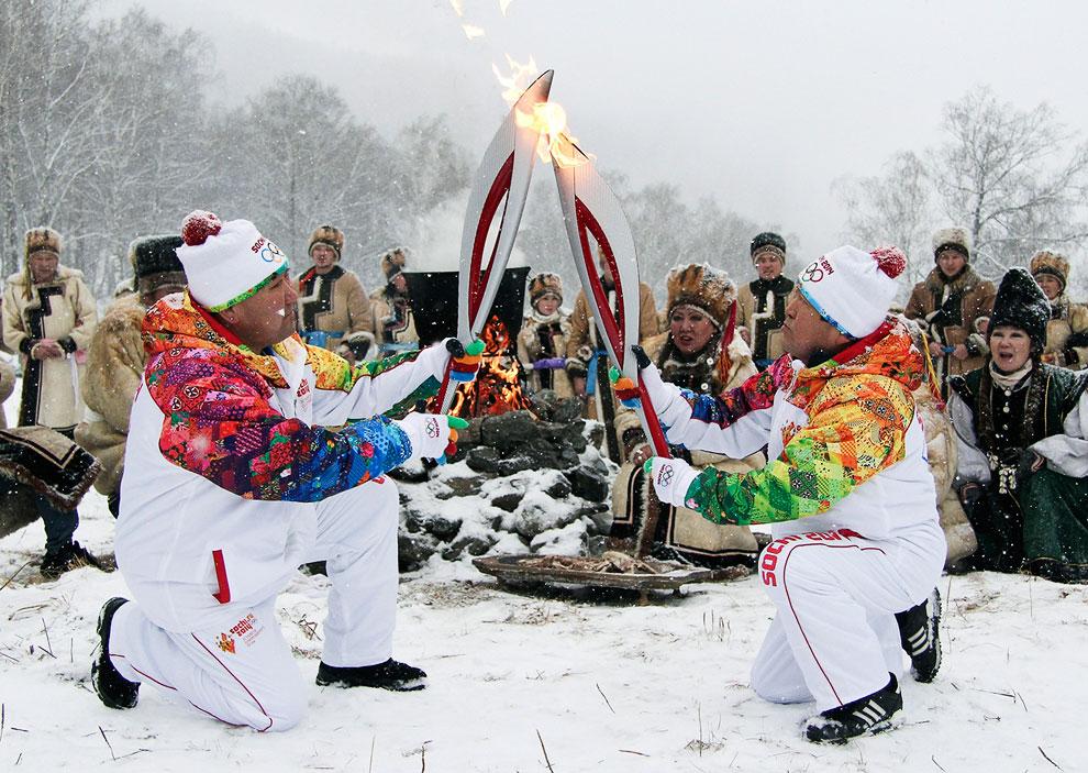 Передача Огня в Горно-Алтайске