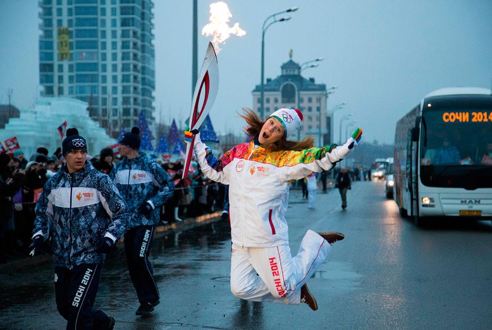 Эстафета Олимпийского огня в Казани, Россия