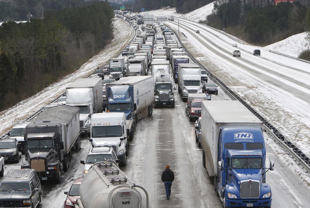 Пробка на дороге в штате Алабама