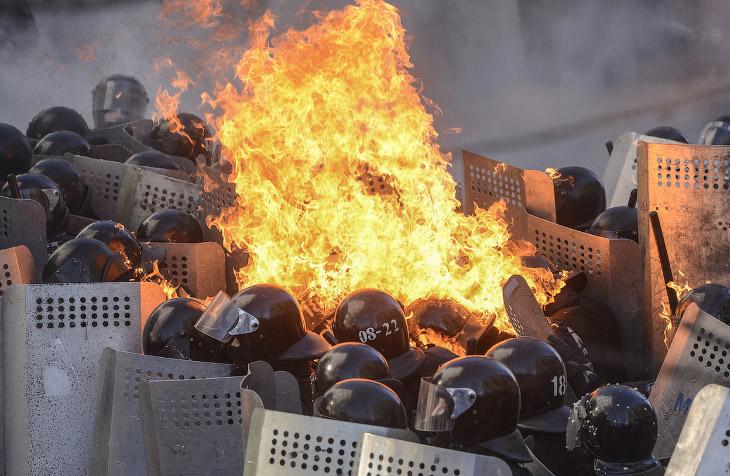 Кровопролитные бои в Киеве
