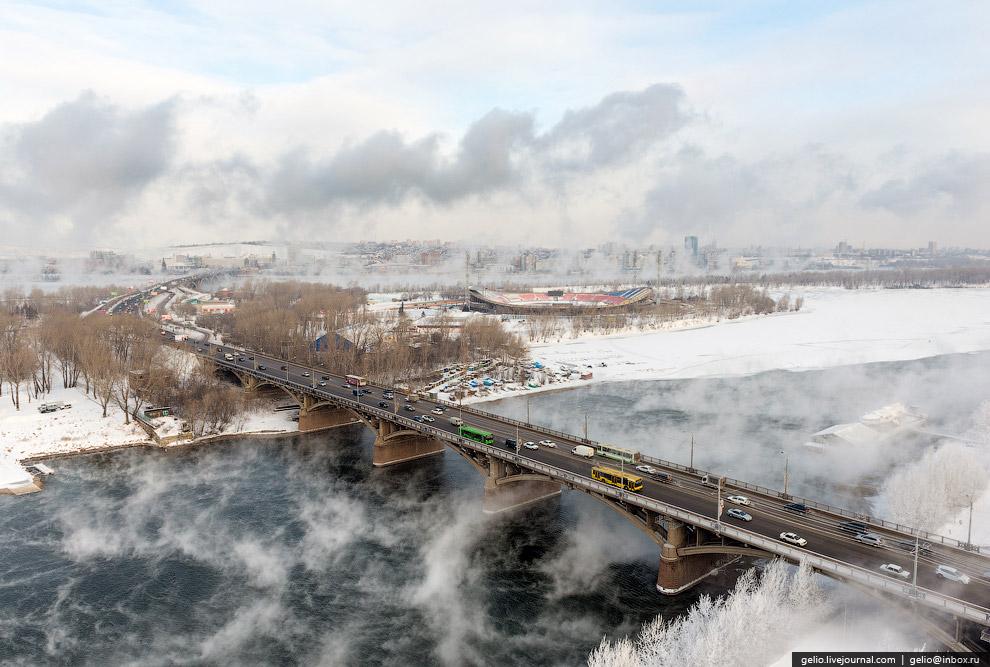 Коммунальный мост через Абаканскую протоку