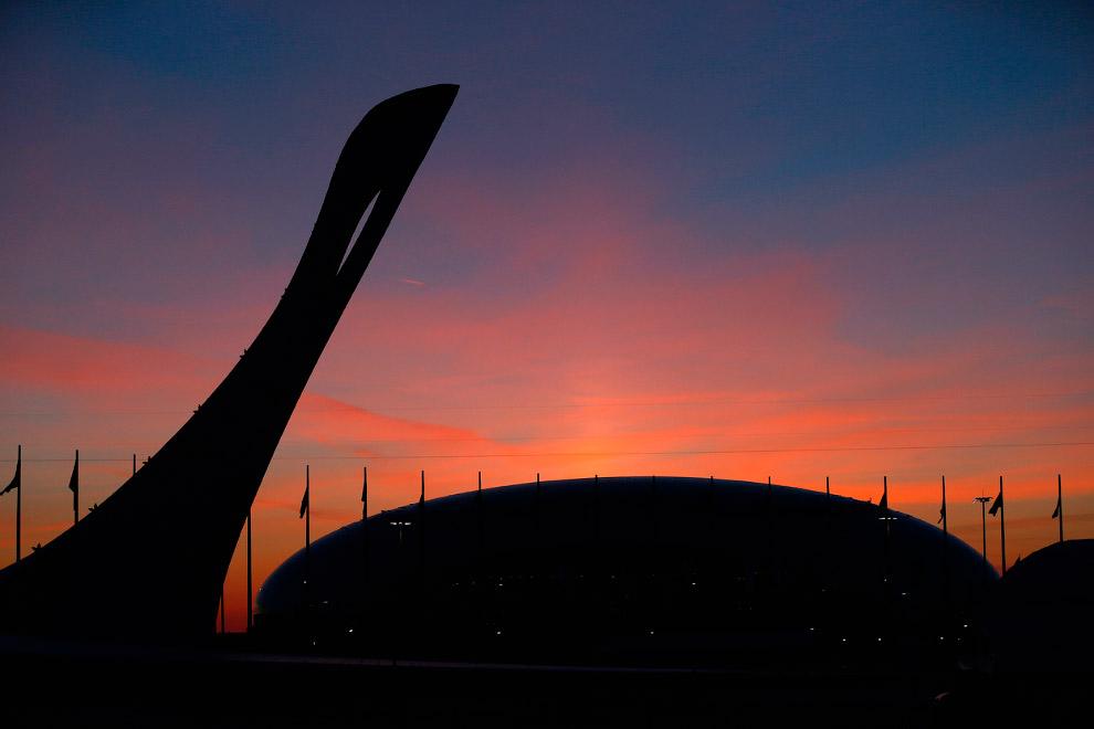 Закат над Олимпийским парком
