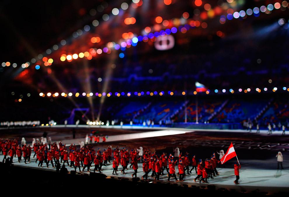 На арену выходит сборная Австрии