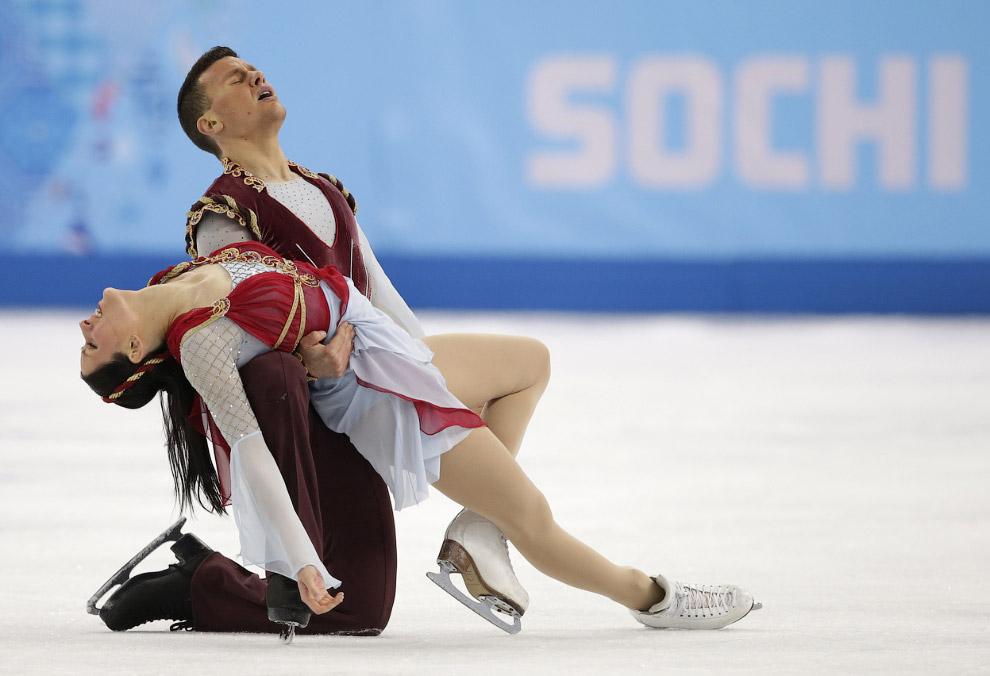 Фигурное катание, произвольный танец, пары. Выступление итальянцев