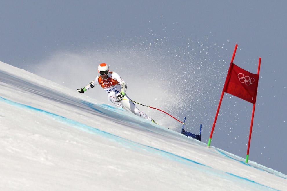 Боде Миллер из США выиграл бронзовую медаль и стал самым возрастным призером Олимпийских игр в соревнованиях по горным лыжам