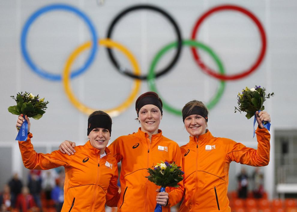 Голландцы в третий раз заняли весь пьедестал Забег на коньках у женщин на 1500 метров обернулся триумфом сборной Нидерландов