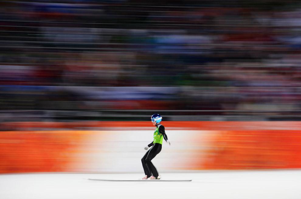 Андерс Фаннаемель из Норвегия на зимних Олимпийских играх в Сочи