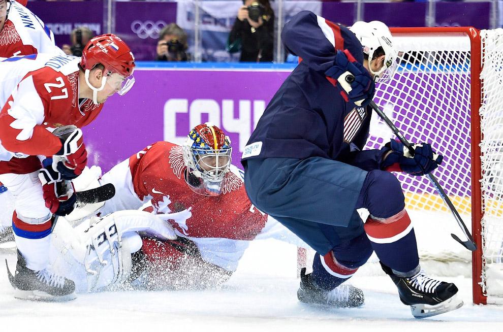 Матч сборной России против хоккейной команды США закончился в пользу американцев по буллитам