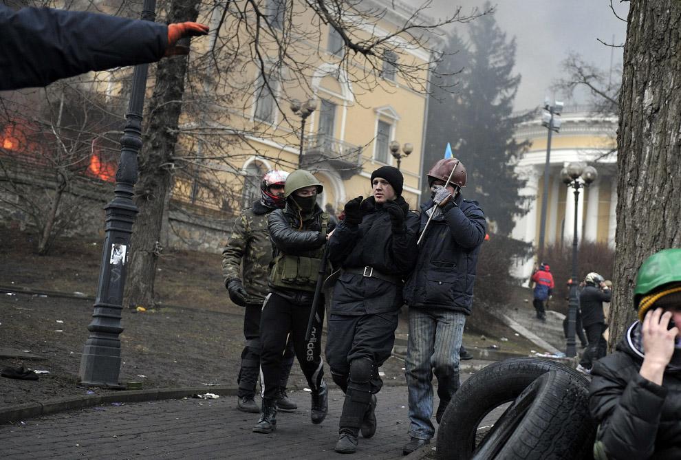 Захваченный милиционер, Киев