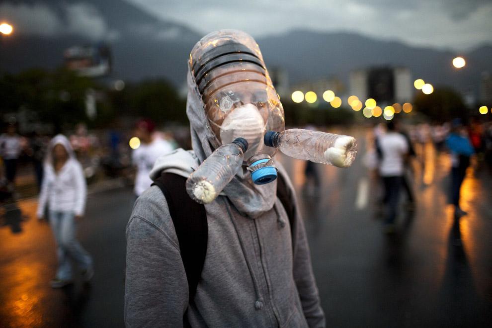 Самодельный противогаз. Каракас