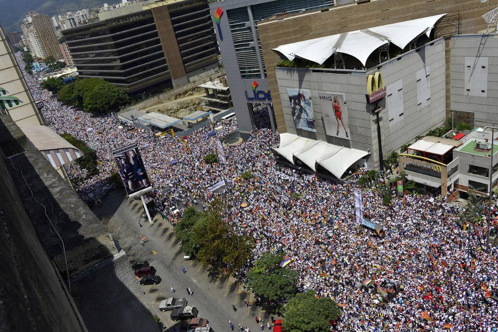 Антиправительственная демонстрация в Каракасе