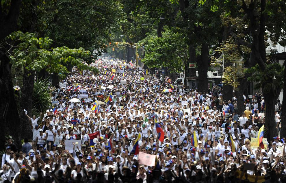 Очередная акция протеста в Каракасе