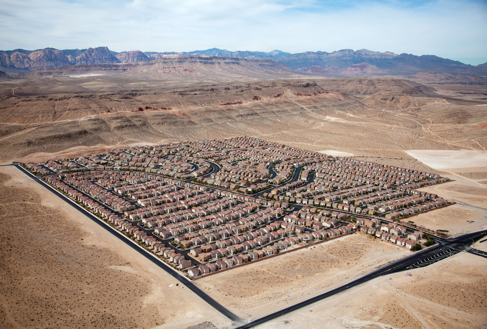 Жилой квартал в Лас-Вегасе, штат Невада