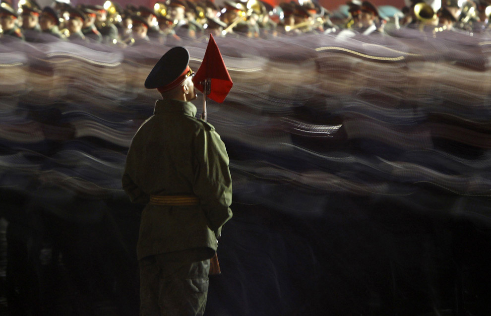Репетиция парада в честь Дня Победы на Красной площади в Москве