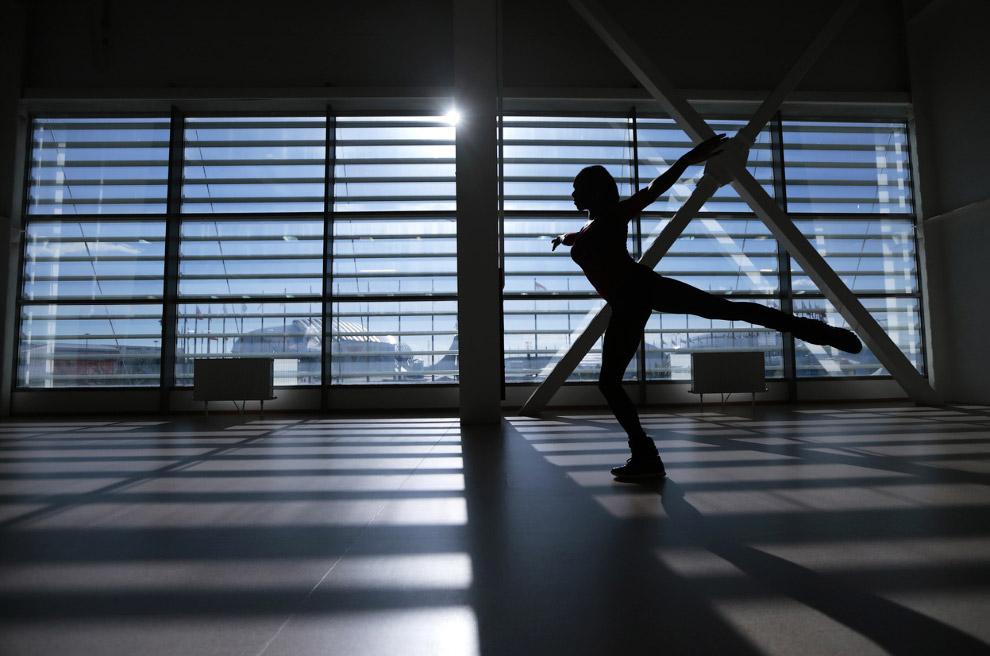 Тренировка у французской фигуристки Ванессы Джеймс