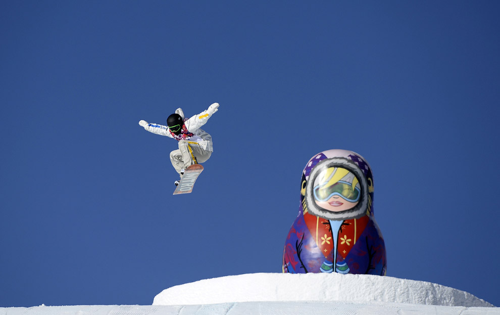 Тренировка шведского сноубордиста, Роза Хутор
