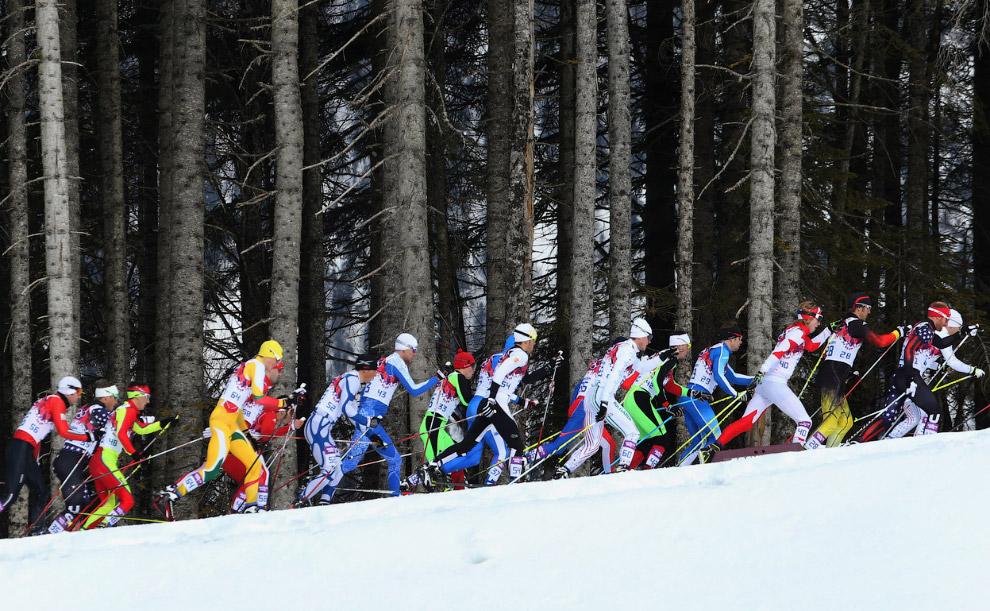 Гонка преследования, скиатлон
