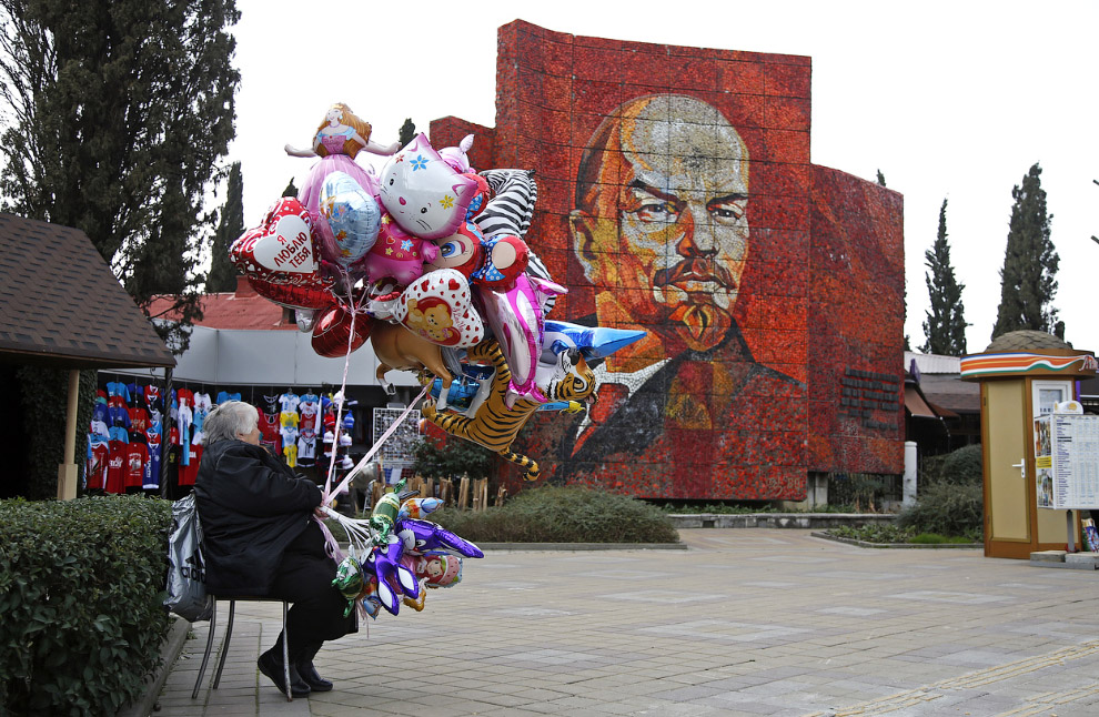 Продавщица воздушных шариков, Сочи