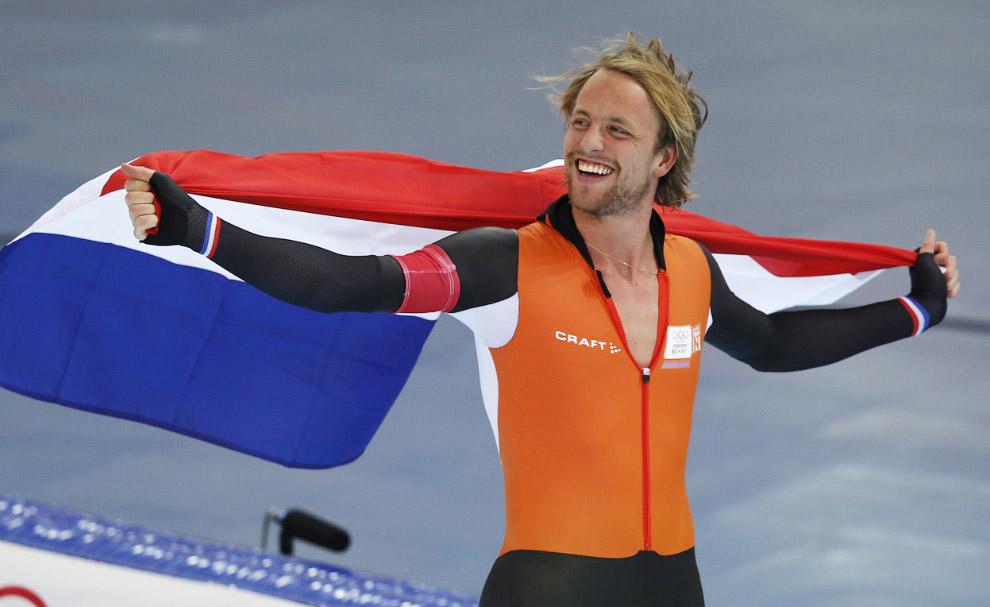 Голландский конькобежец Мишель Мюлдер завоевал золото Олимпиады в Сочи на дистанции 500 метров