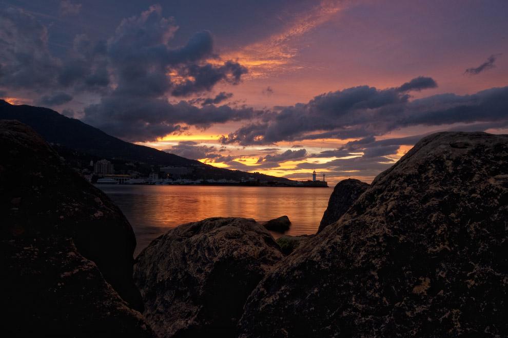 Закат в Крыму и маяк