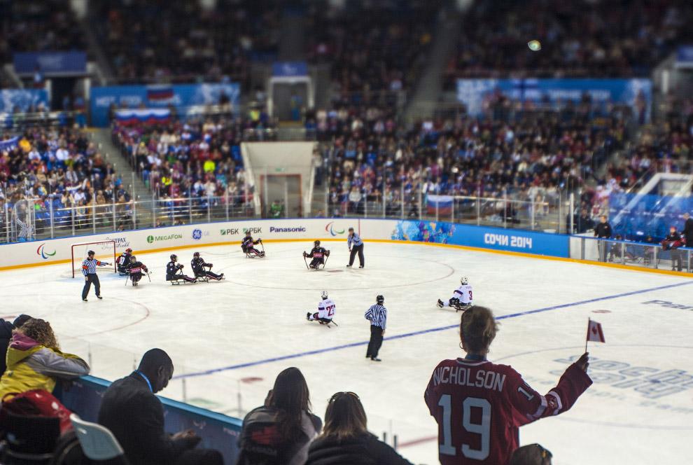 Матч по следж-хоккею Канада — Норвегия