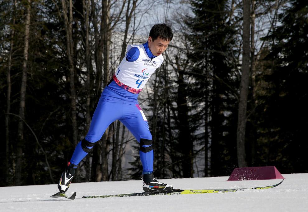 Лыжная гонка на дистанции 20 километров в категории «стоя»