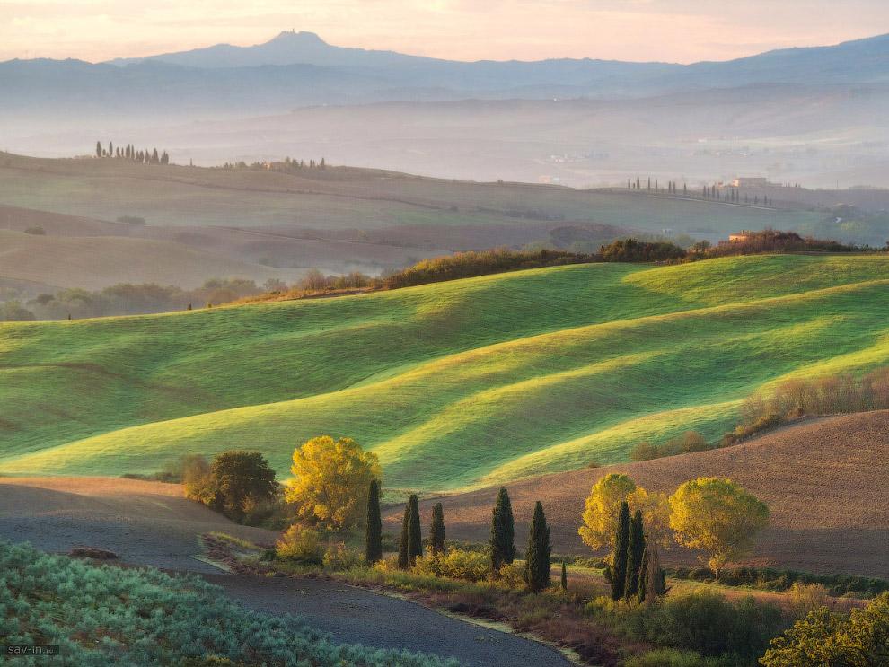 Теплая осень в Тоскане