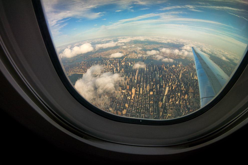 Нью-Йорк из окна самолета