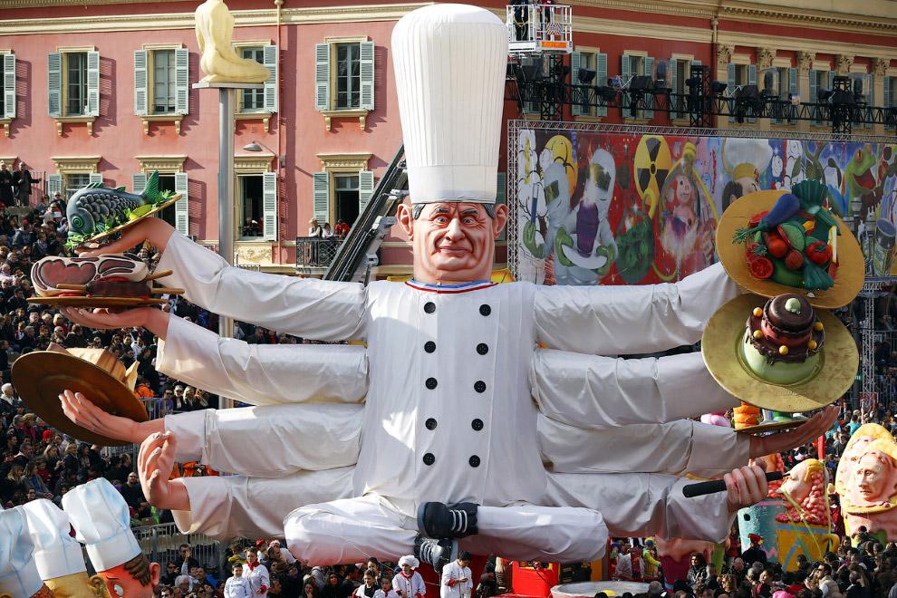 «Король гастрономии» — так называется в этом году основная тема карнавала в Ницце