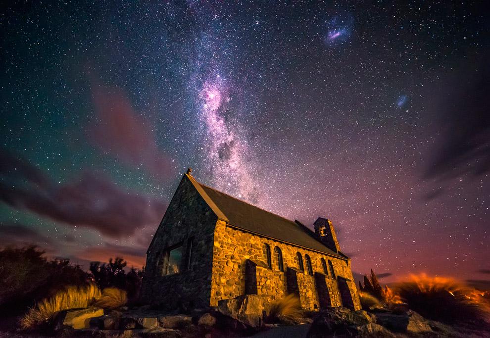 Церквушка в Новой Зеландии