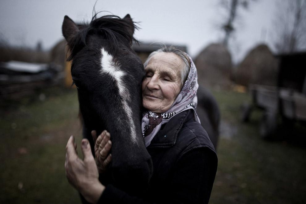 Бабушка и ее лошадь