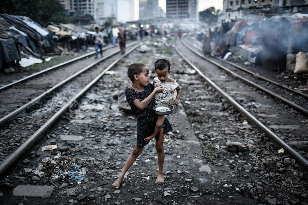 Трущобы в Дакке