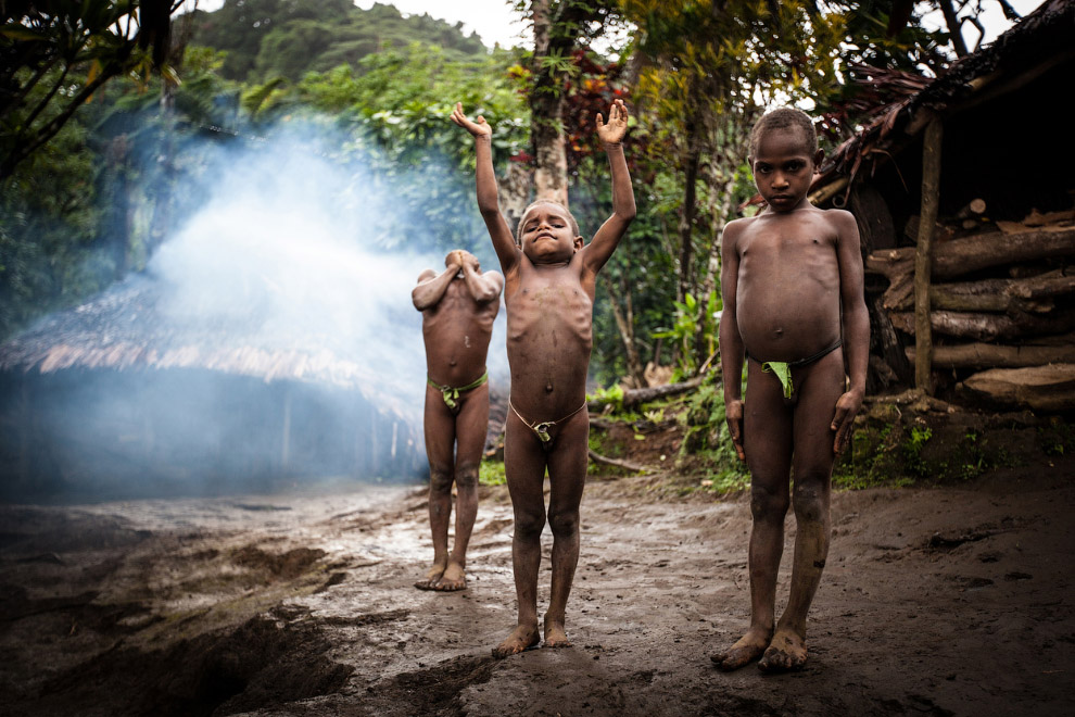 Молодые члены племени Саа, Вануату