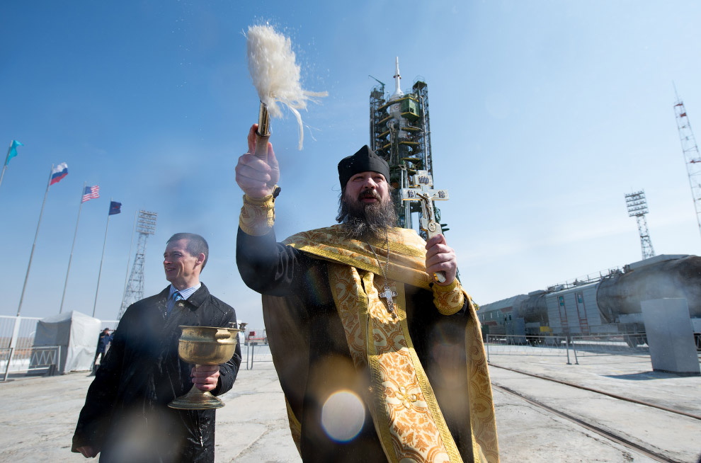 Российское «ноу-хау» — освящение ракеты