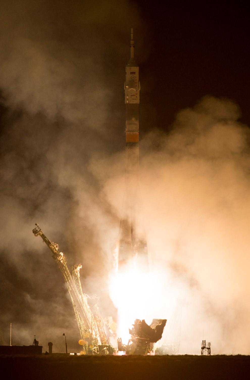 Поехали! Старт космического корабля «Союз TMA-12М» с Байконура