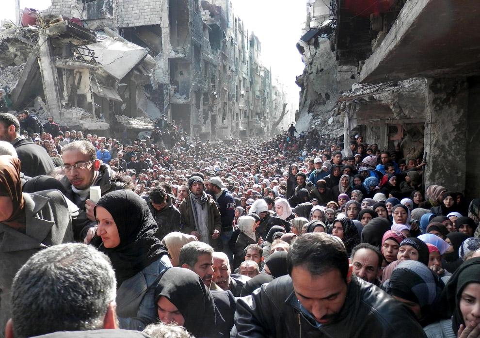 Палестинские беженцы в Дамаске