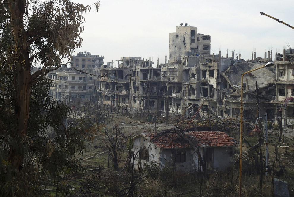 Руины города Хомс